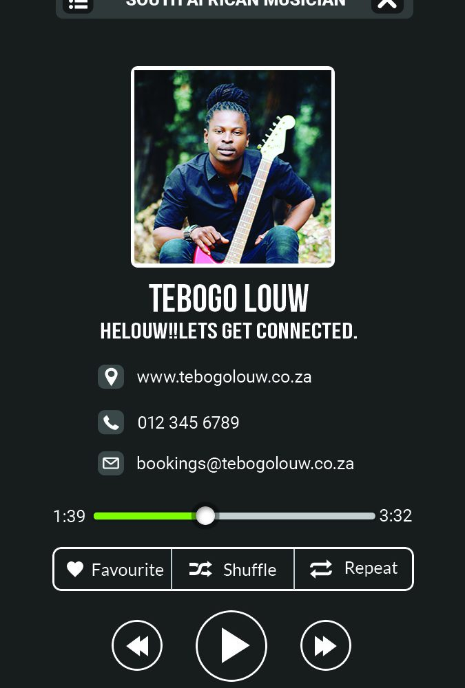 Tebogo Louw – Business Card