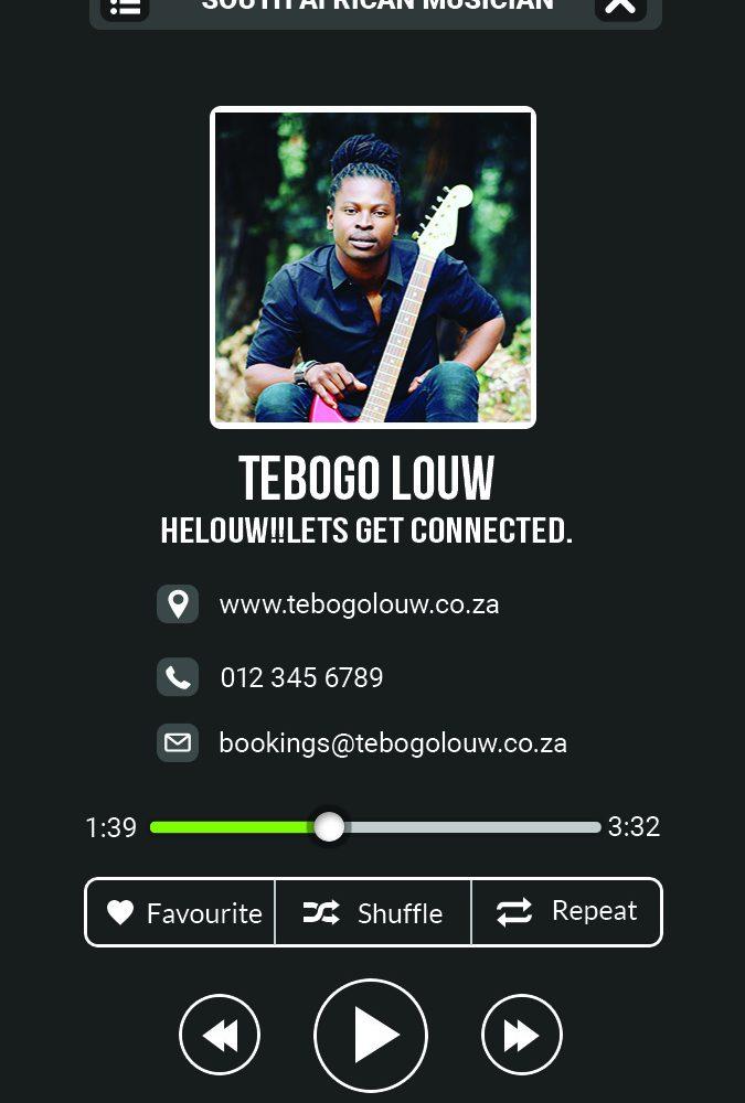 Tebogo Louw – Business Card
